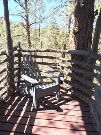 Pinos Altos, NM: Balcony off the bedroom.