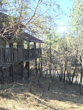 Pinos Altos, NM: View of our cabin