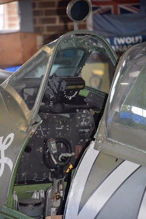 Manston, UK: Spitfire cockpit
