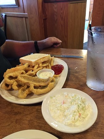 Ottawa Beach Inn : Lake Perch with fries and Cole slaw