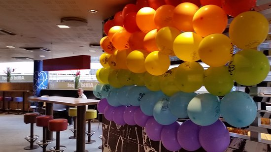 Gay Pride Decorations Picture Of Mcdonald S Stockholm Tripadvisor