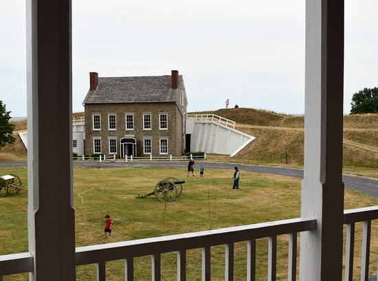 Fort Ontario State Historic Site: View from the balcony of one of the buildings