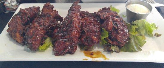 Jensen Beach, FL: Brown sugar Bourbon chicken fingers. Really good.