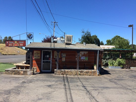 Lower Lake, Kalifornia: Another delicious visit to Danny's Roadside Kitchen!  Today I had the pastrami burger... it was
