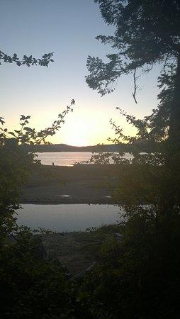 La Conner, WA: sunset above beach