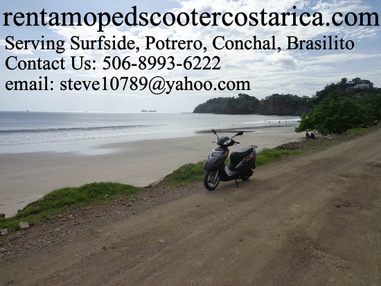 Playa Potrero, Costa Rica: Scooter at Flamingo Beach