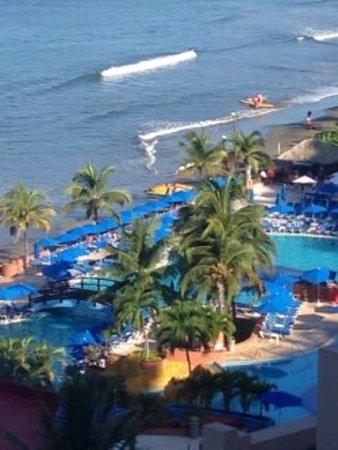 Azul Ixtapa Beach Resort & Convention Center: foto tomada desde la habitacion