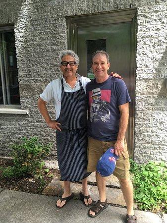 Ken and my husband Shel outside Boulanger Bassin