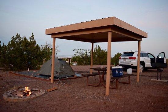Saint Johns, AZ: Campsite in the evening