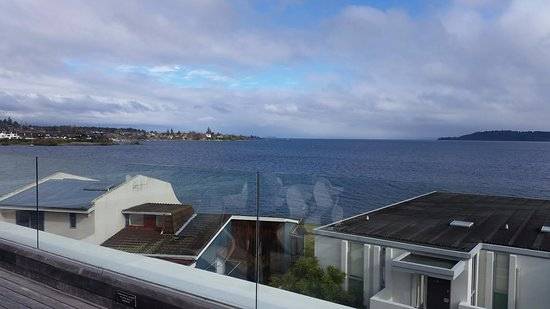 Sacred Waters Taupo Luxury Apartments: View from the deck