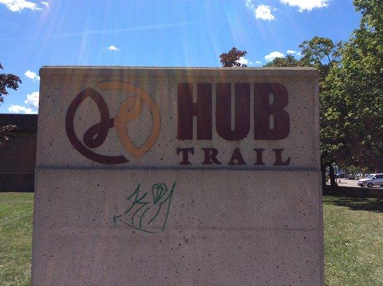 Sault Ste. Marie, Canada: Hub trail sign