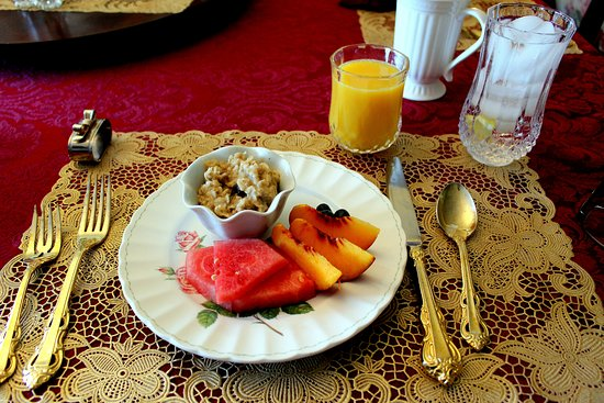 Sea Cliff Gardens Bed & Breakfast: Breakfast, first course.