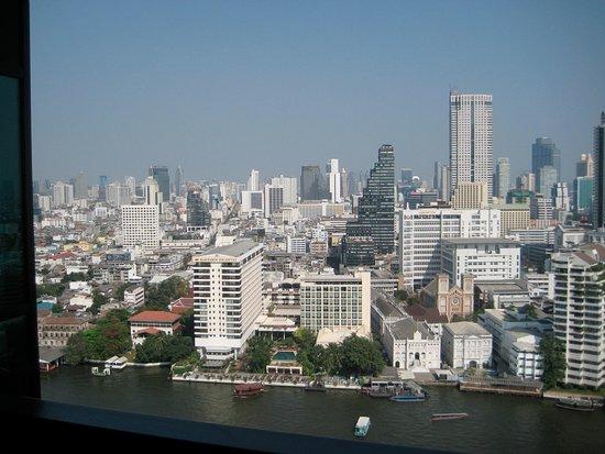 The Peninsula Bangkok: River and town views from room