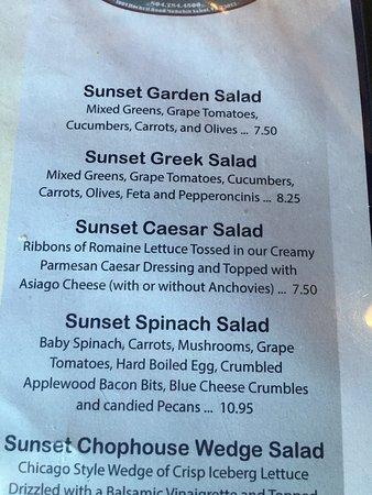 Manakin Sabot, VA: menu - salad