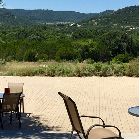 Leakey, TX: The view from the stone paver patio