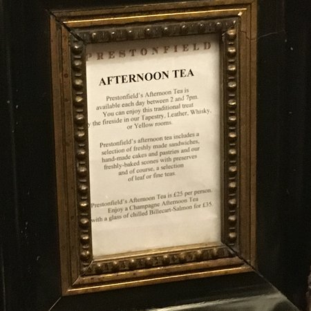 Prestonfield: The best tea you will ever attend!