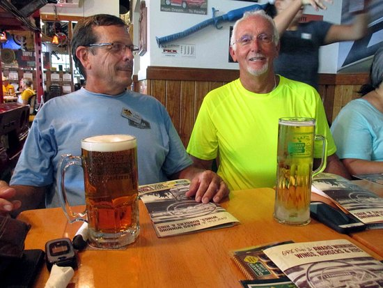 Quaker Steak & Lube: We loved the size of the beer mugs