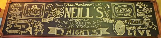 O'Neill's Bar and Restaurant : Murales