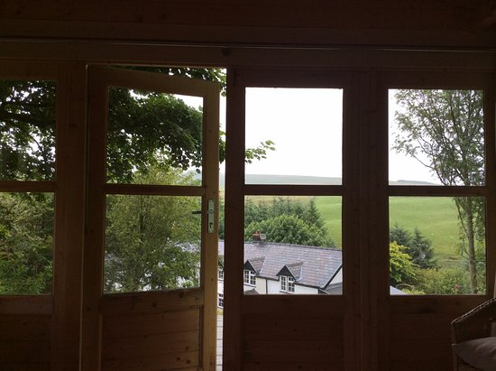 Llanbrynmair, UK: View of Bron y Llys from the summer house