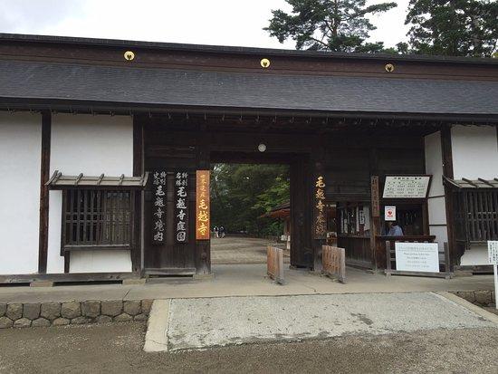 Motsu-ji Temple: 毛越寺の入口