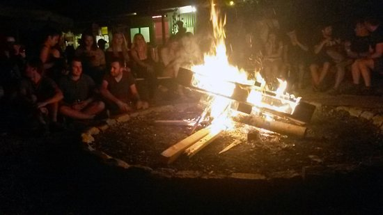 THE TENT Munich : Spend some time relaxing at the camp fire :-)