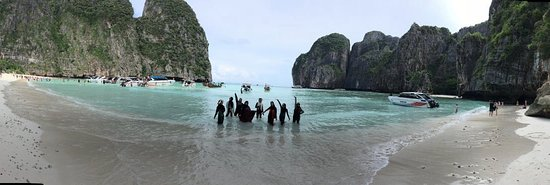 Andaman Camp and Day Cruise: Panoramic view of Koh Phi Phi - shot by Honey