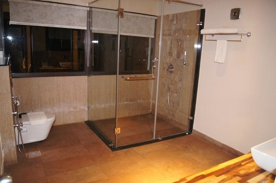 Vythiri, Hindistan: Room bathroom