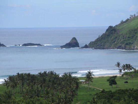 Desa Sekotong Barat, Indonesia: Mekaki beach vanaf de toegangsweg