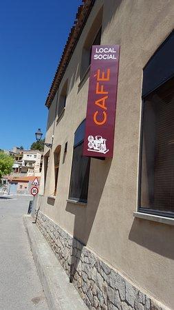 "Vallbona De Les Monges, Spagna: Left side view of the coffee/restaurant. ""Local Social"""