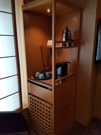 โรงแรมนิวะ โตเกียว: Kühlschrank + Kaffeemaschine