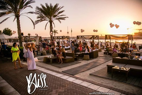 Beautiful Sunset Colors At Bliss Lounge