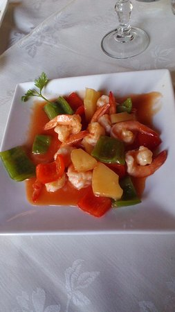 Ristorante Cinese Shanghai: gamberi in salsa agrodolce