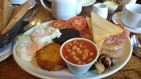 The Old White Lion Hotel Restaurant: The Heart Attack Breakfast..it nearly got me!