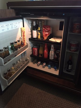 InterContinental Warszawa: mini fridge fully stocked