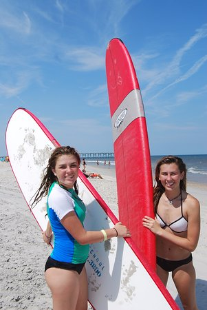 Tony Silvagni Surf School: Even after camp hours ended - we had to rent boards!