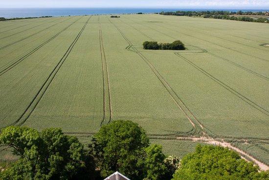 Schleswig-Holstein, Alemania: Weiter Blick über die Felder