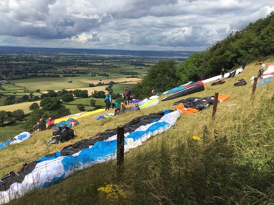 Nympsfield, UK: Great sporting viewpoint ...