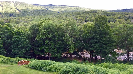 The Lodge at Lincoln Station Resort: View from the balcony (imagine bubbling river sounds!)