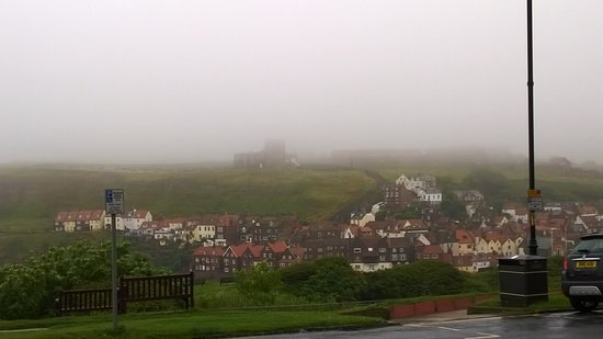 Bay Royal Whitby Hotel: Shrouded in mist - from Hotel terrace