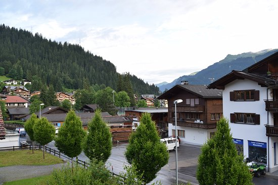Sport-Lodge Klosters: View from my balcony in the morning