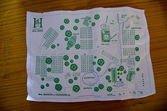 Son Parc, Spain: hotel area map