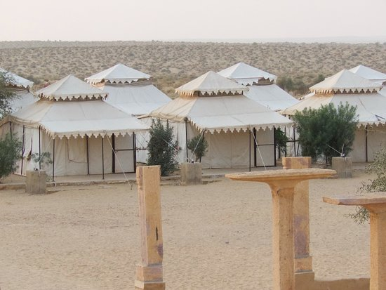 Rajasthan Desert Safari Camp Pvt. Ltd.: An overview of the tents and the dunes