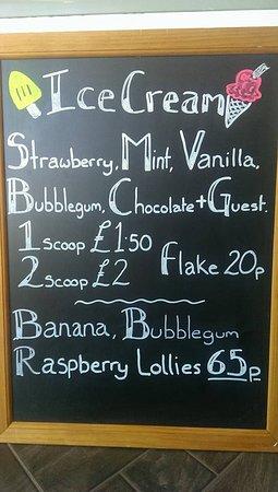 Broadstone, UK: Ice-cream