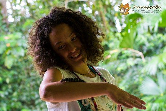 Anaconda Lodge Ecuador Amazonia: Beutiful Guest from Italy!