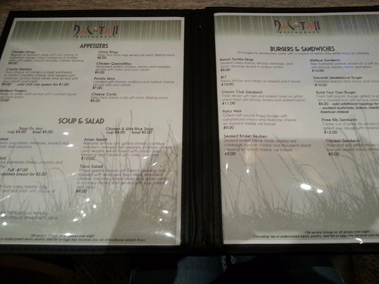 Morton, MN: 1st couple pages, there is more to this menu.