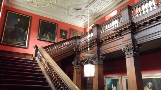 Lyme Park: Main stair well, pictures of Lyme family