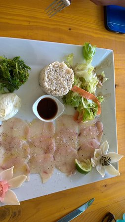 Grand Bourg, Γουαδελούπη: Carpaccio de poisson
