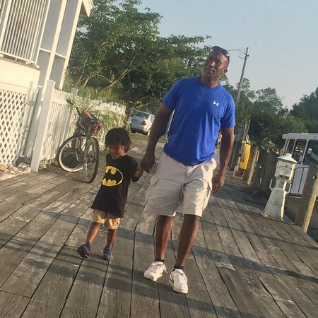 Pocomoke City, Maryland: Making memories with his granddad