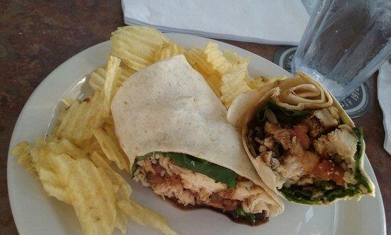 Pocomoke City, Maryland: Chicken Bruschetta Wrap (with the chicken)