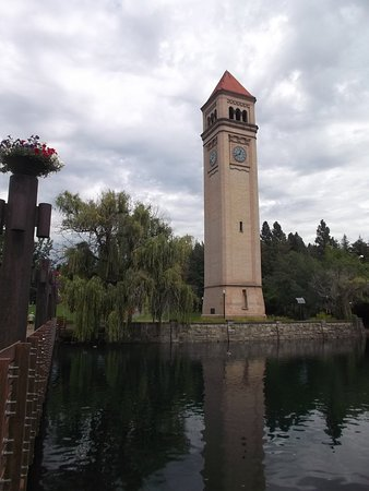 Downtown Spokane: Tower in the park